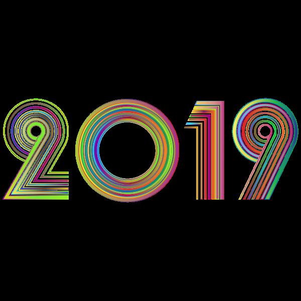 2019 Typography Polyprismatic No BG