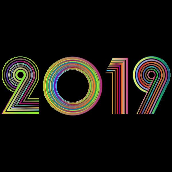 2019 Typography Polyprismatic Variation 2