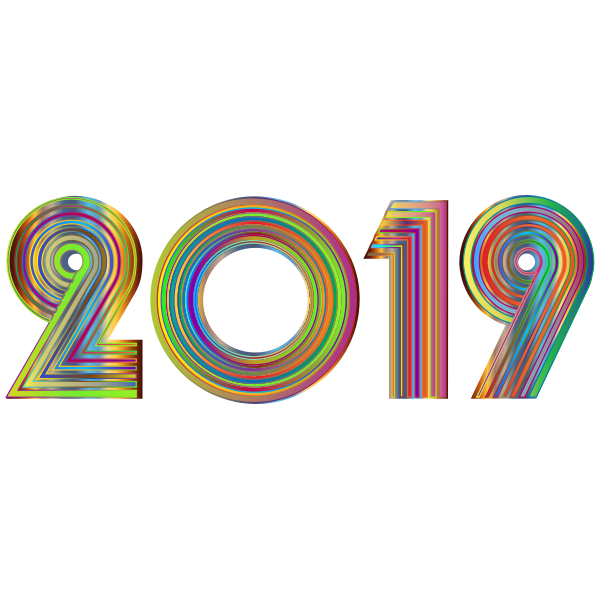 2019 Typography Polyprismatic Variation 3