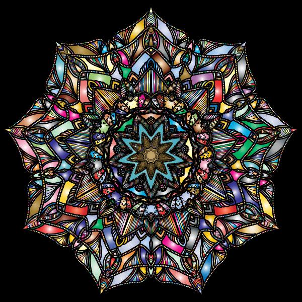 Detailed Hand Drawn Mandala Prismatic