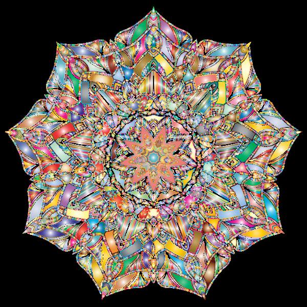 Detailed Hand Drawn Mandala Prismatic Var 2