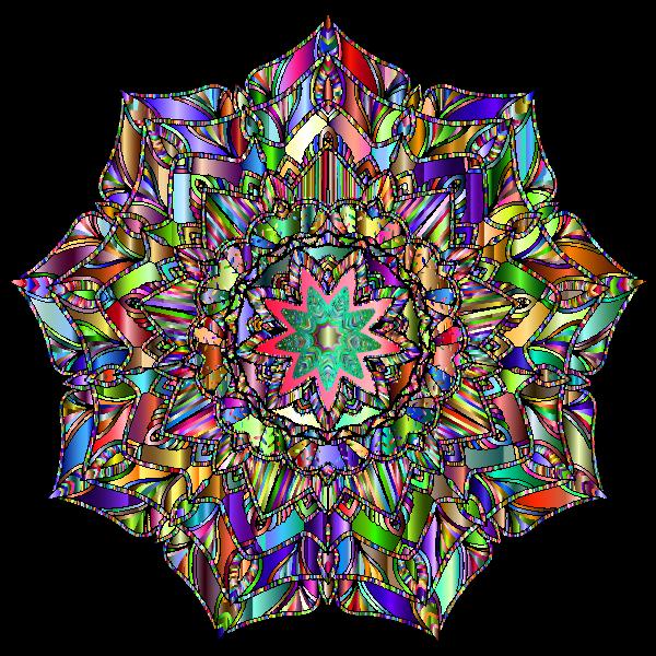 Detailed Hand Drawn Mandala Chromatic