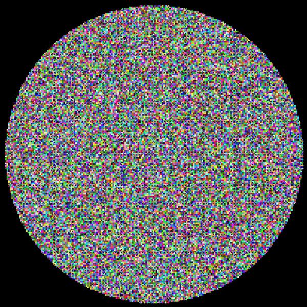 Very High Detail Circle Fractal Prismatic