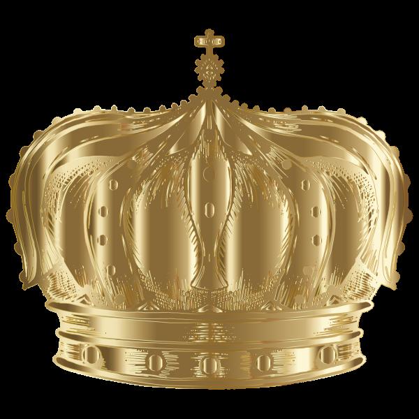 Vintage Crown Line Art Gold