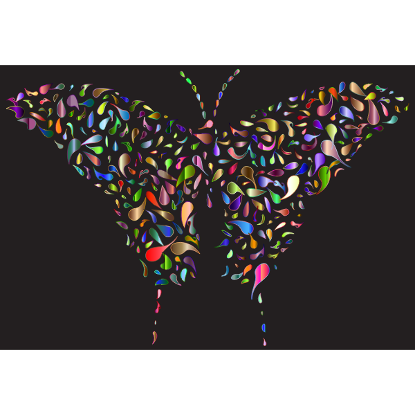 Abstract Drops Butterfly Chromatic