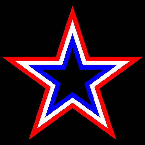 Red White Blue Star
