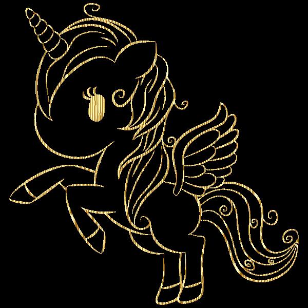 Cuddly Unicorn By Annalise1988 Line Art Gold No BG