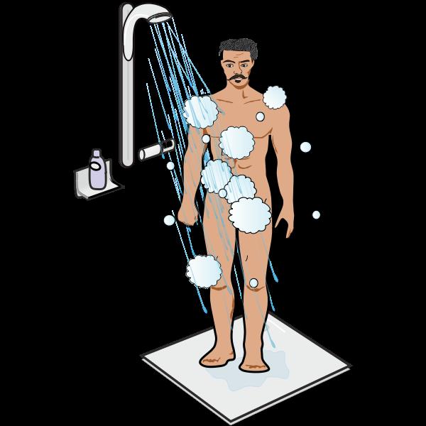 Man in Shower