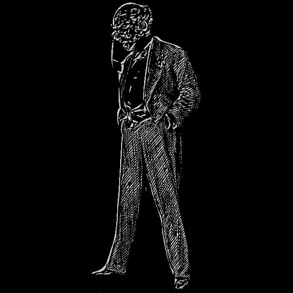 Bald man in a Suit