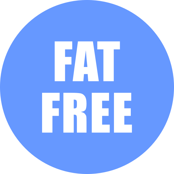 Fat Free Icon Blue