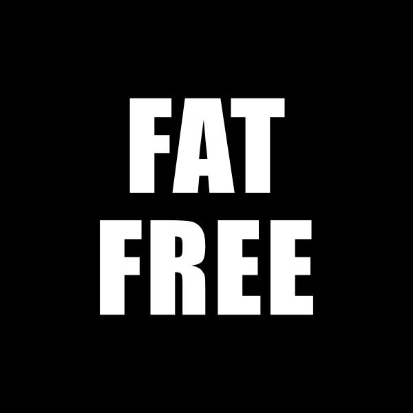 Fat Free Icon Black