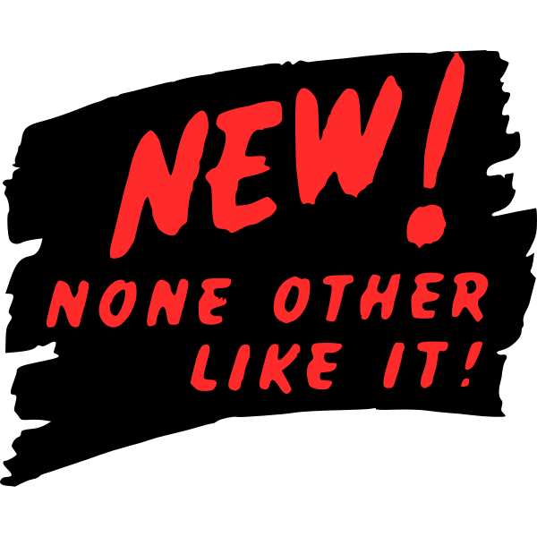 Promo slogan in black and red