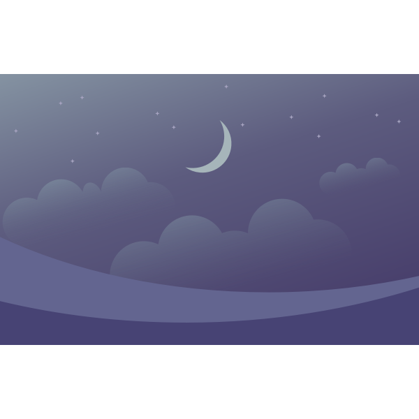 Moon and stars and clouds background