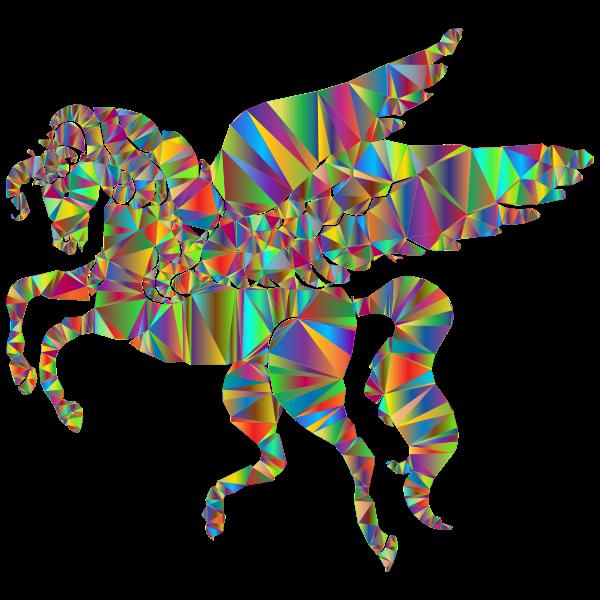 Winged Unicorn Low Poly