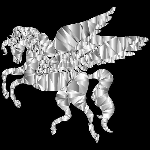 Winged Unicorn Low Poly 2