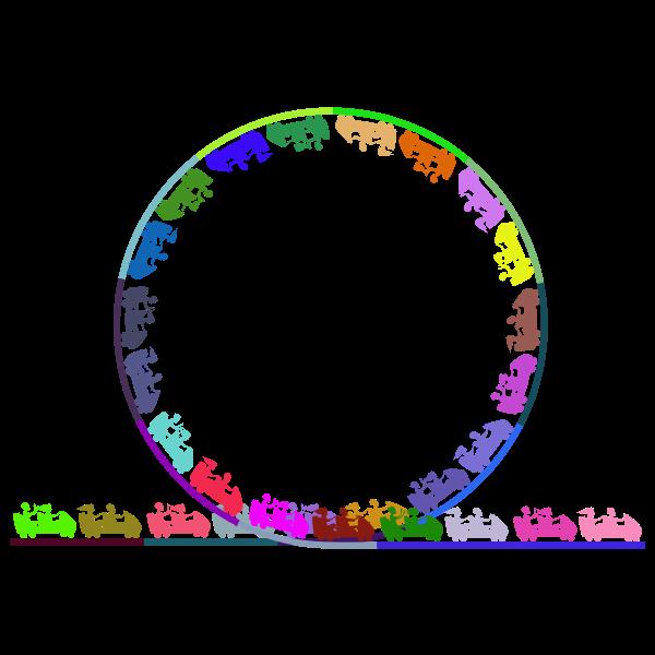 Roller Coaster Loop De Loop Colored