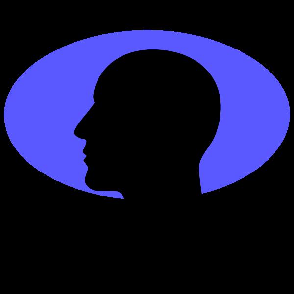 Man Head Silhouette Speech Bubble