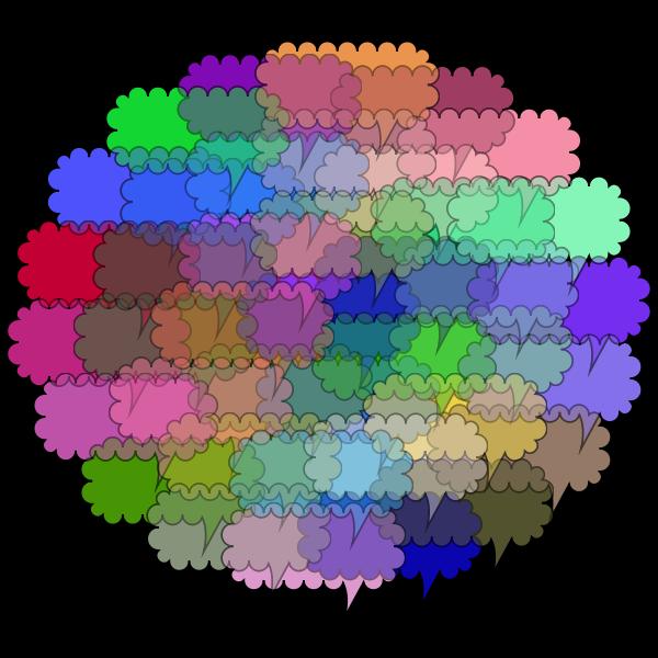 Cloud Of Speech Bubbles Prismatic