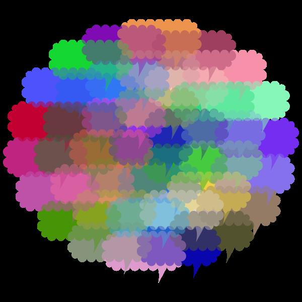 Cloud Of Speech Bubbles Prismatic Variation 2