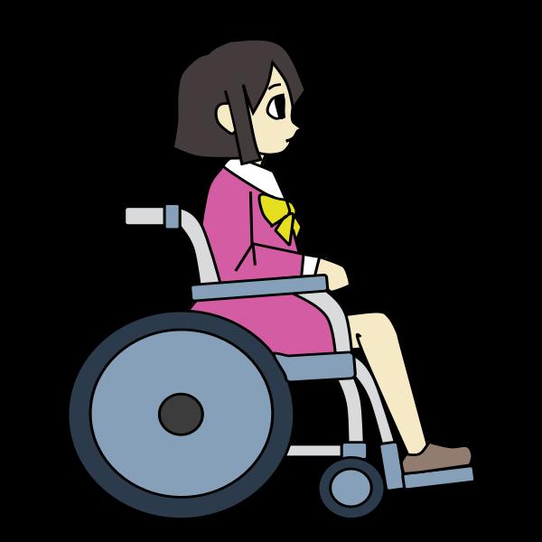 Wheelchair Girl - Colour