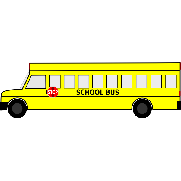 Big School Bus Free Clipart Download Icon - SVG