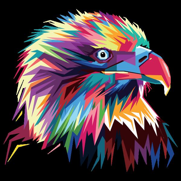 Geometric Eagle Pop Art By RizkyDwi123