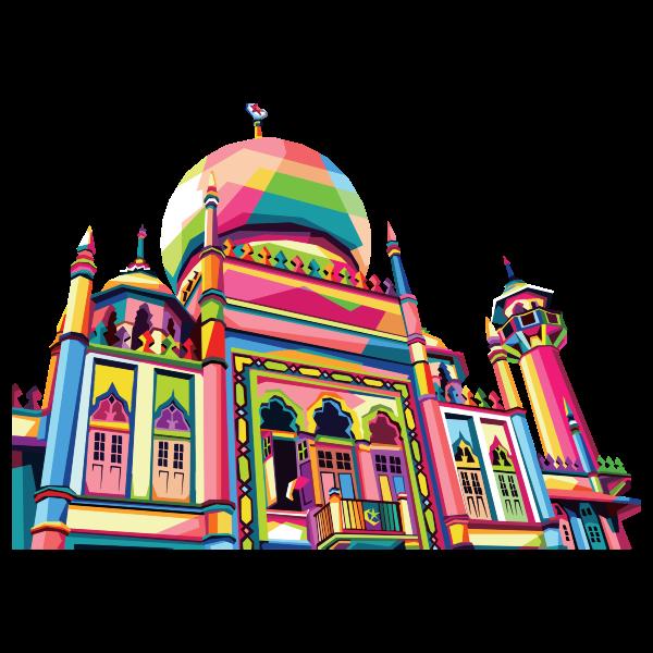 Geometric Mosque Pop Art By RizkyDwi123