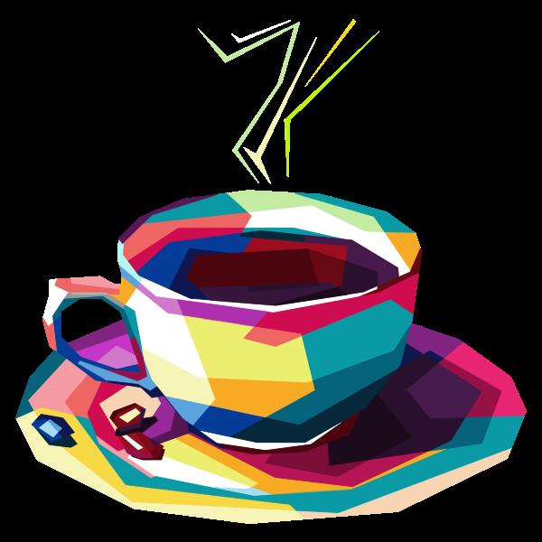 Geometric Coffee Pop Art By RizkyDwi123