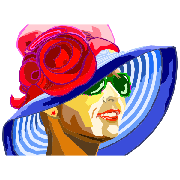 Woman In Colorful Hat WPAP