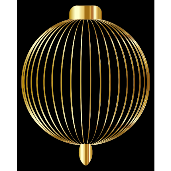 Christmas Ornament Silhouette Gold