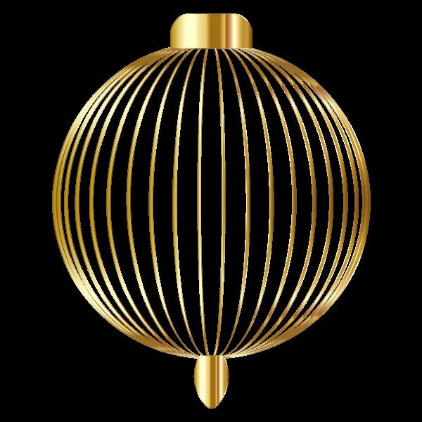 Christmas Ornament Silhouette Gold No BG