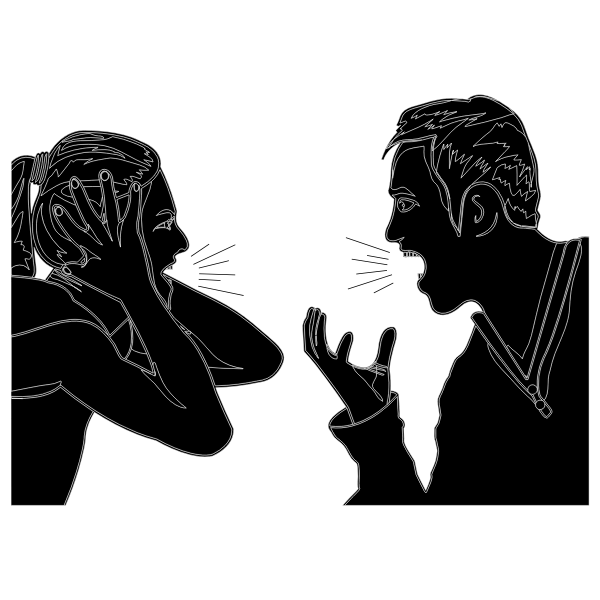 Couple Arguing By mstlion Silhouette
