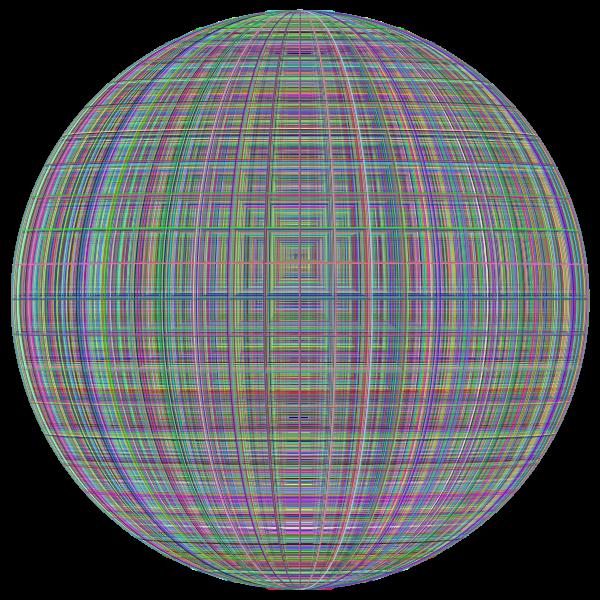 3D Perspective Grid Dense Prismatic Sphere