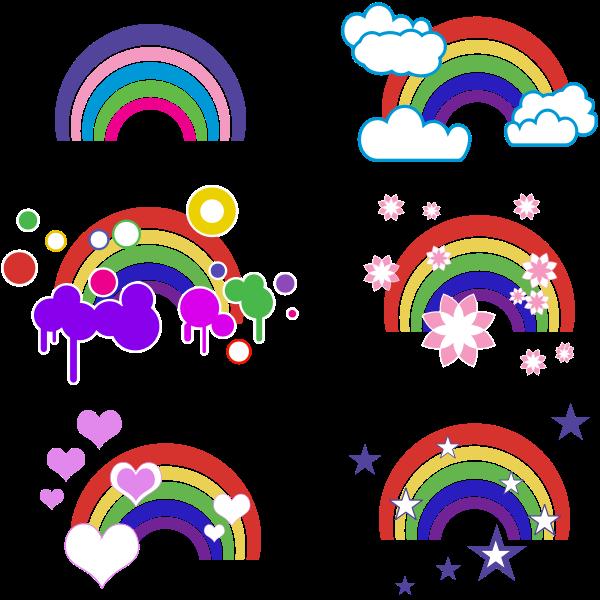 Rainbow Embellishments Free Svg