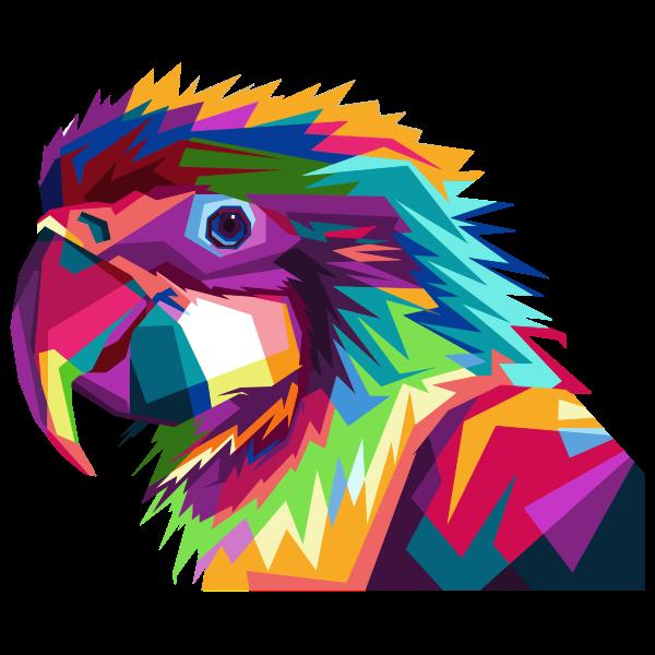 Geometric Parrot Pop Art By RizkyDwi123