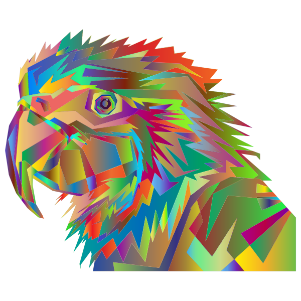 Geometric Parrot Pop Art By RizkyDwi123 Surreal