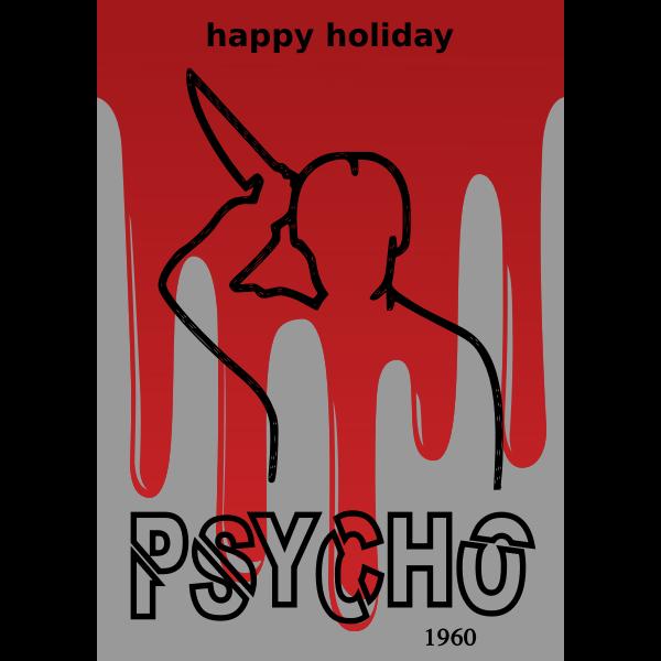 Vintage psycho poster