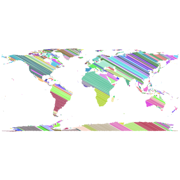 World Map Sketch Prismatic