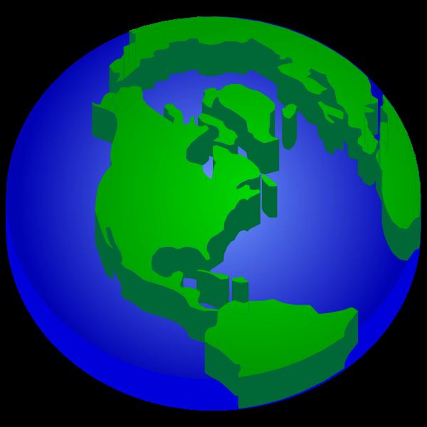 3D Elevated Earth Globe