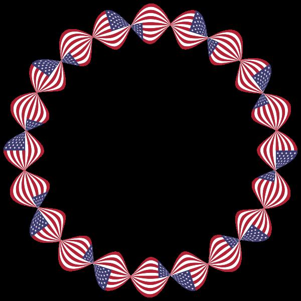 American Flag Twist Frame