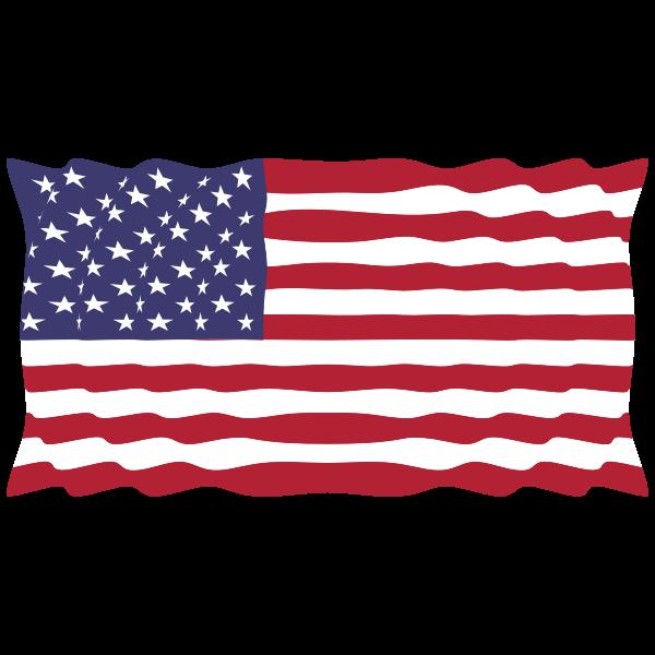 American Flag In The Wind II