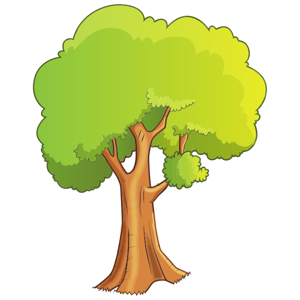 Pleasant Greenery Scene Tree Isolated