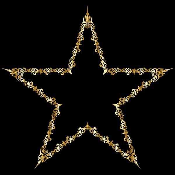 Gold Decorative Star