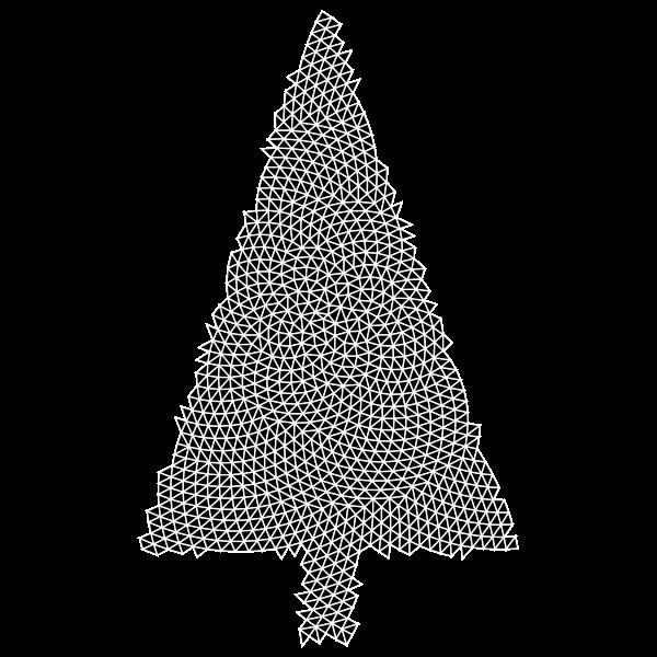 Abstract Christmas Tree Triangular