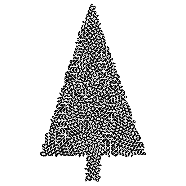 Abstract Christmas Tree Triangular
