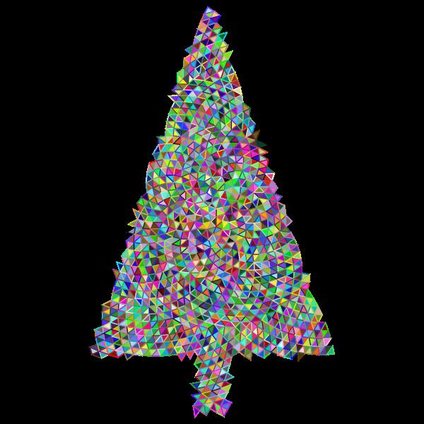 Abstract Christmas Tree Triangular Prismatic
