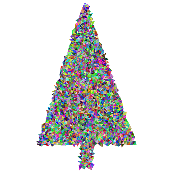Abstract Christmas Tree Triangular Prismatic