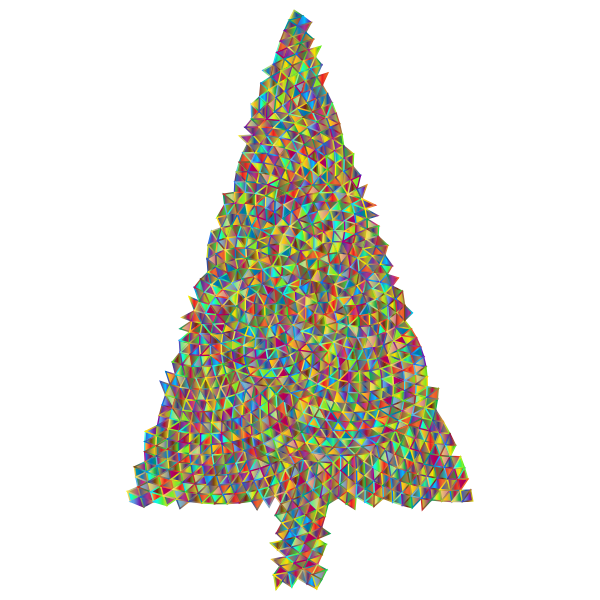 Abstract Christmas Tree Triangular Polyprismatic