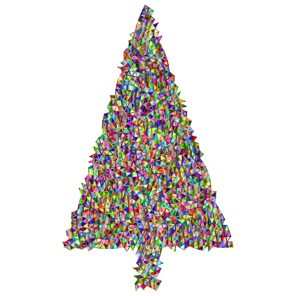 Abstract Christmas Tree Triangular Chromatic