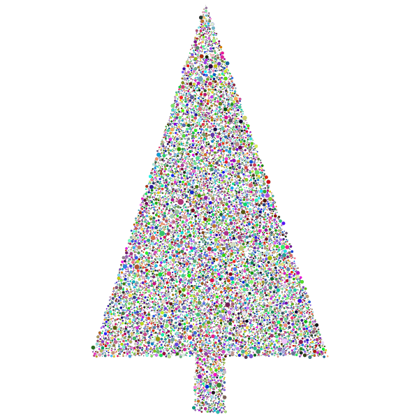 Abstract Christmas Tree Circles Prismatic